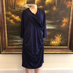Lane Bryant Long Sleeve Dress Purple Size 22